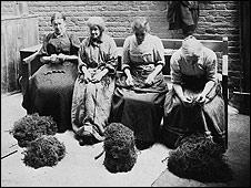Four women in a workhouse 1900-1905
