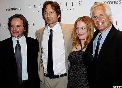 Frank Spotnitz, David Duchovny, Gillian Anderson and Chris Carter