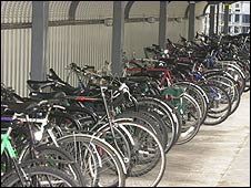 bikes parked at BBC