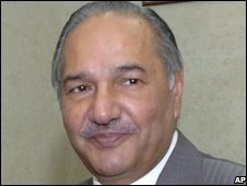 Pakistani Defence Minister Ahmed Mukhtar