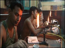 A gold jewellery workshop in Dhaka
