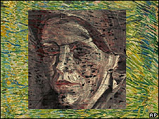 Image revealed under Vincent van Gogh painting Patch of Grass from 1887