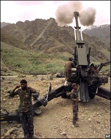 File photo of Indian artillery in Kashmir