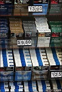 Paquetes de cigarrillo