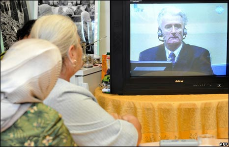 Radovan Karadzic on television