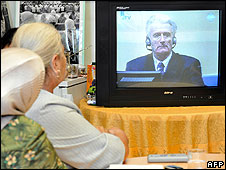Survivors of the Srebrenica massacre watched the hearing on television