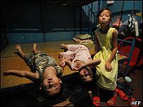 Hijos de migrantes chinos