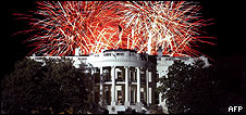 Fireworks over the White House