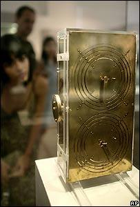Réplica del Mecanismo de Anticitera en el Museo Arqueológico Nacional de Atenas