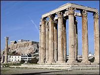 Restos del Templo a Zeus en el Monte Olimpo