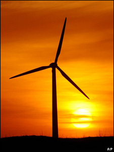 Wind turbine in China (Image: AP)