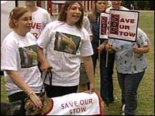 Protestors at Walthamstow Stadium