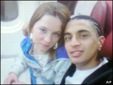 Cara Burke with Mohamed D'Ali Carvalho Santos