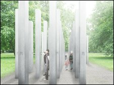 Artist's impression of what the memorial might look like