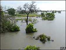File photo from 2007 of the flooded Oti river in the Mango district of northern Togo