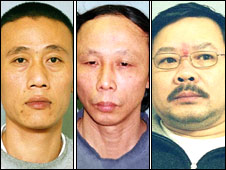 Guilty: L-R - Thanh Van Le, Cong Van Le, and Quynh Van Huynh