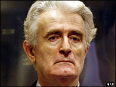 Radovan Karadzic appears at The Hague, 31 July 2008