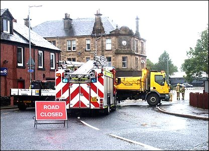 Fire engine in Glengarnock (photo by Bill Cairns)