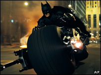 "Christian Bale as Batman in ""The Dark Knight"""