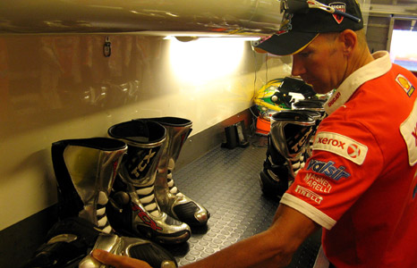 Troy Bayliss's motorbike boots