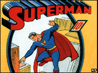 Image of the first Superman comic, dated 1939