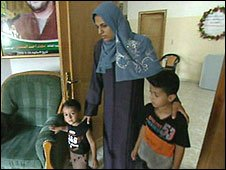 Falastin Sefady, whose daughter was killed in the beach bombing