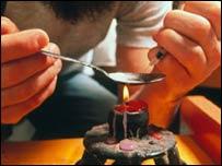 Preparaci�n de inyecci�n de hero�na