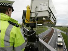 Police monitor A9 at Gleneagles