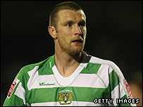 Andy Kirk in action for Yeovil
