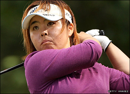 Yuri Fudoh in action at the Women's British Open at Sunningdale