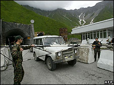 A South Ossetian border post (image from 1 August)