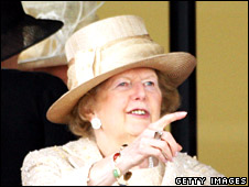 Margaret Thatcher at Royal Ascot in June