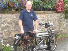 Brad Jones with his motorbike