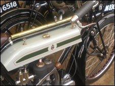 The Triumph Model H's engine