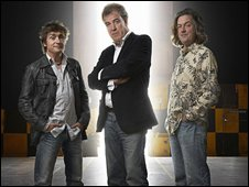 Left to right: Richard Hammond, Jeremy Clarkson and James May