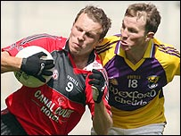 Action from the qualifier between Down and Wexford