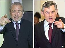 Alan Sugar, Gordon Brown