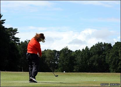 Yuri Fudoh in action during the third round at Sunningdale