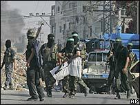 قوات حماس في حي الشجاعية