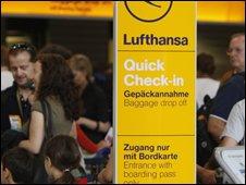 Lufthansa passengers