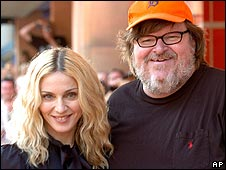 Madonna with Michael Moore