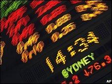 Stockmarket board