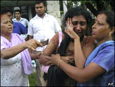 Relatives of the dead and injured in the stampede
