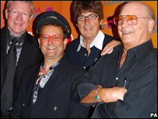 Former Radio Luxembourg DJs (l-r): David Jensen, Timmy Mallet, Mike Read and Emperor Rosko
