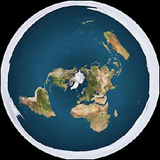 Flat earth map
