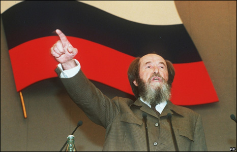 Alexander Solzhenitsyn addresses the Duma, 1994