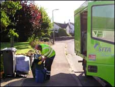 Food waste being collected (Pic: EDCC)