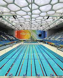 The swimming pool in Beijing