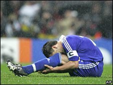 John Terry cries in the rain
