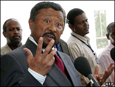African Union Commission Chairman Jean Ping in Khartoum, 4 August 2008